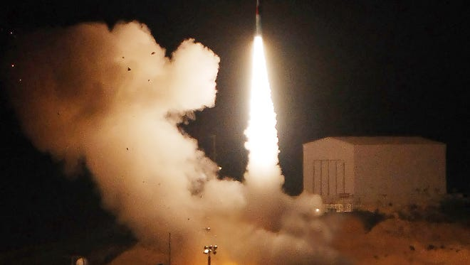 Arrow missile launches from Israel in 2007.