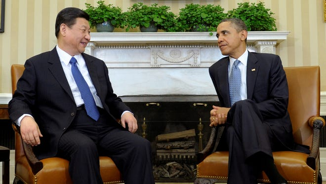 President Obama meets with then-Chinese Vice President Xi Jinping in the Oval Office of the White House in Washington. Obama and current Chinese President Xi face weighty issues when they meet at a private estate in California on June 7-8, 2013, but their most important task may simply be establishing a strong rapport. Tucked away at a mansion with a private golf course on the edge of the Mojave Desert, Obama and Xi will search for the kind of personal chemistry that has eluded their predecessors for the past several decades.