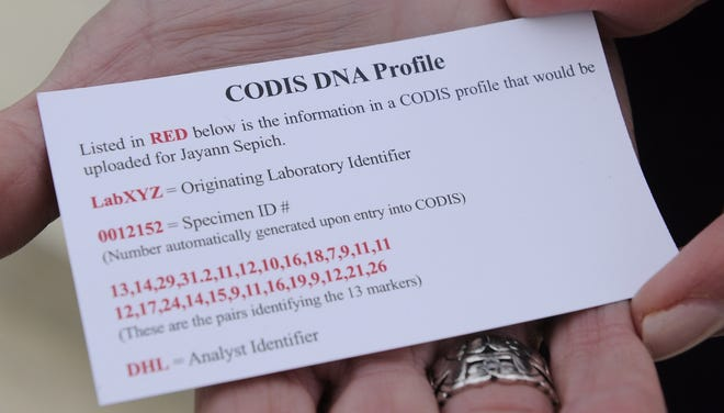 A DNA profile can tell gender, but the rest of the profile is literally a set of numbers, and each profile is coded.