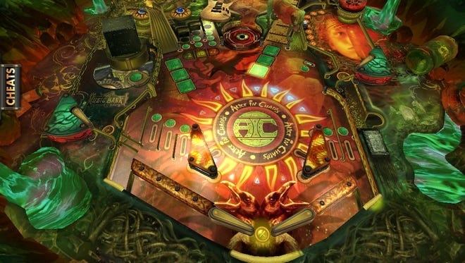 A screen shot from the new 'Alice in Chains Pinball Rocks HD' mobile video game.