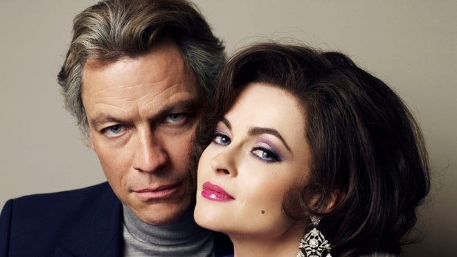 Dominic West and Helena Bonham Carter are Richard Burton and Elizabeth Taylor in BBC America's new movie.