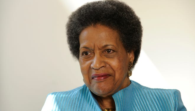 Myrlie Evers-Williams, widow of assassinated civil rights leader Medgar Evers, is angry -- but no longer at his killer.