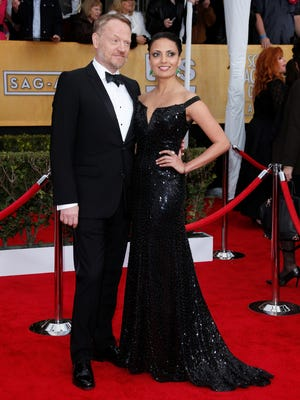 Jared Harris arrives at the Screen Actors Guild Awards in January with girlfriend  Allegra Riggio.