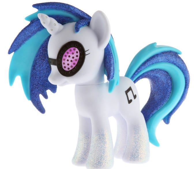 Hasbro brings a slew of exclusive collectible toys every year to Comic-Con, and this year's no exception. One of the hot figures will definitely be DJ Pon-3 ($49.99), a character from the 'Friendship Is Magic' cartoon.