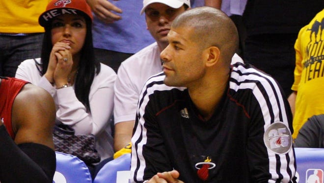 Miami Heat's Shane Battier didn't play in Game 7 of the Eastern Conference finals vs. Indiana.