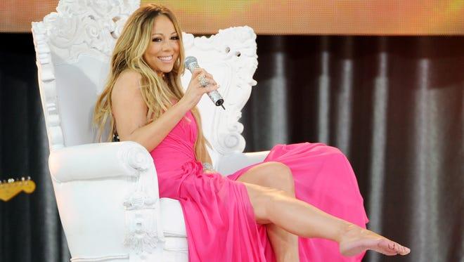 Singer Mariah Carey performs on 'Good Morning America' on May 24.