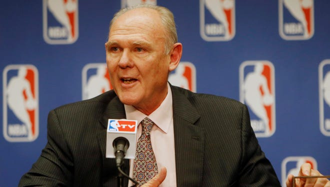 George Karl coached the Nuggets for nine seasons.