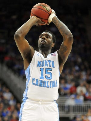 North Carolina Tar Heels guard P.J. Hairston (15) shoots a free throw in the second half of the game against the Villanova Wildcats during the second round of the 2013 NCAA tournament.