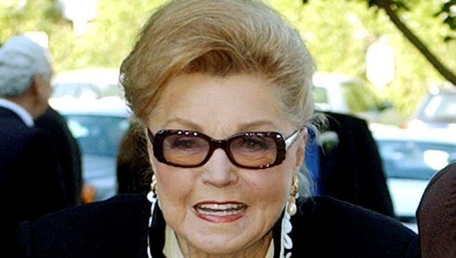"""Esther Williams, seen here in 2004, starred in films such as """"Easy to Wed"""" and """"Neptune's Daughter"""""""