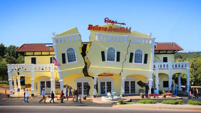 The Ripley's Believe It or Not! Odditorium in Branson exhibits hundreds of strange things, the biggest of which is a 6-ton twine ball.