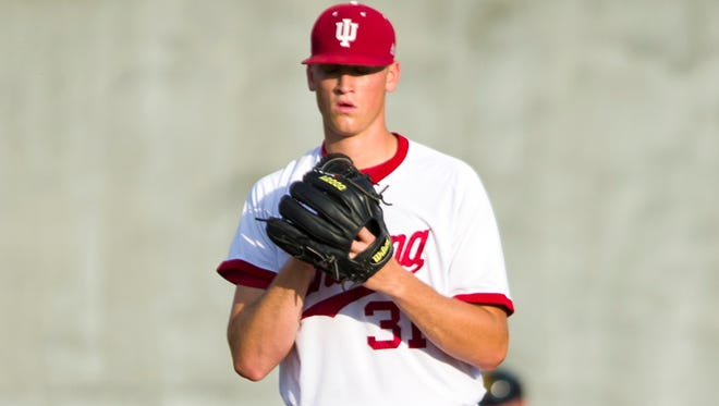 Indiana pitcher Aaron Slegers battled arm and leg injuries starting as a senior in high school before breaking through this season.