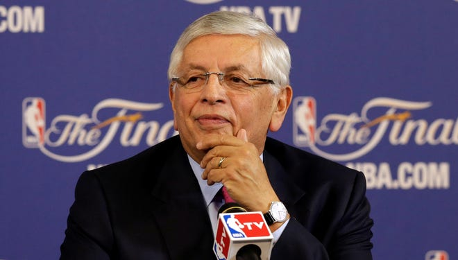 NBA commissioner David Stern addresses the media before the Finals.