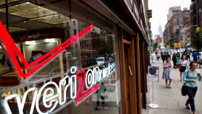 A Verizon Wireless store in New York.
