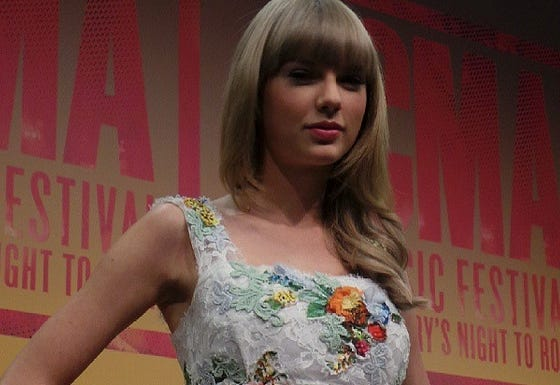 Taylor Swift says she takes about two years to write songs for a new album.