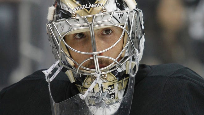 What did the decision not to start Marc-Andre Fleury in Game 3 say about the Pittsburgh Penguins goalie's future?
