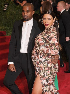 Kanye and Kim at last month's Met Ball in New York.