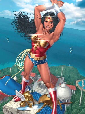 This illustration released by DC Comics shows an image of Wonder Woman by artist Nicola Scott.