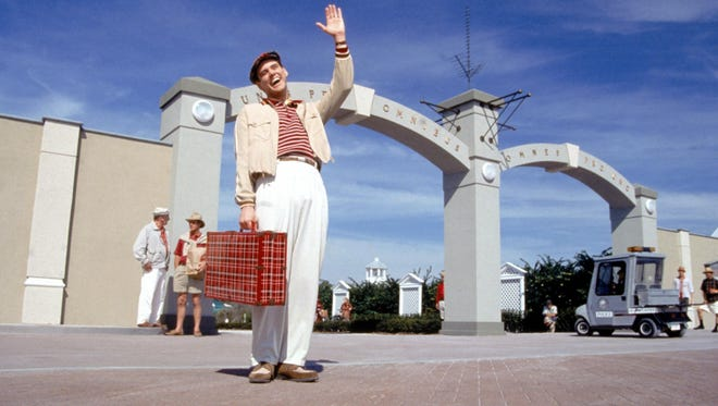 Jim Carrey in a scene from the film 'The Truman Show.'