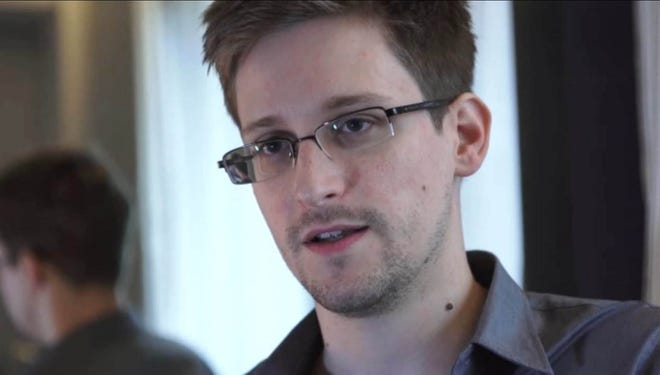 "Screenshot of video from ""The Guardian"" website shows interview recorded in Hong Kong with NSA surveillance leaker Edward Snowden."