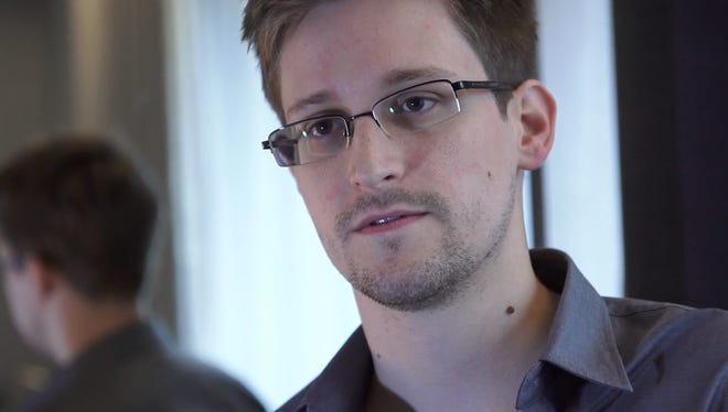 Edward Snowden in Hong Kong on Sunday.