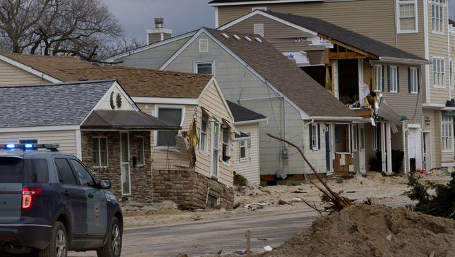 Many homes closest to the ocean took the biggest pounding from superstorm Sandy in Ortley Beach, N.J., as seen on Nov. 14, 2012. Sandy's surge destroyed more than 200 homes and flooded hundreds more.