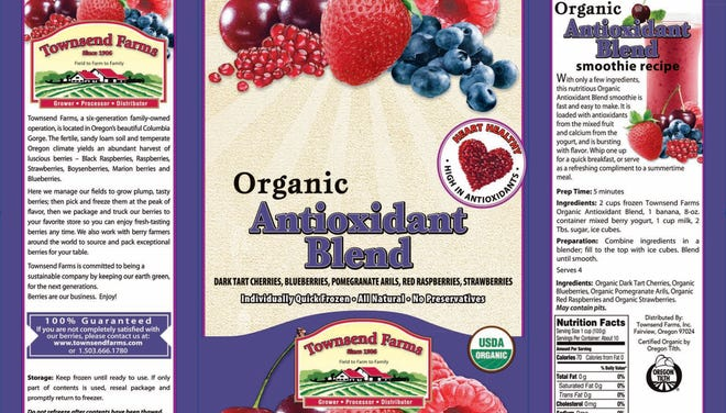Townsend Farms of Fairview, Ore., recalled its Organic Antioxidant Blend after it was linked to hepatitis A illnesses.