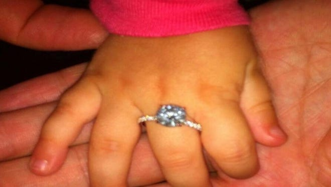 Linda Cardellini shares a photo of her engagement ring.