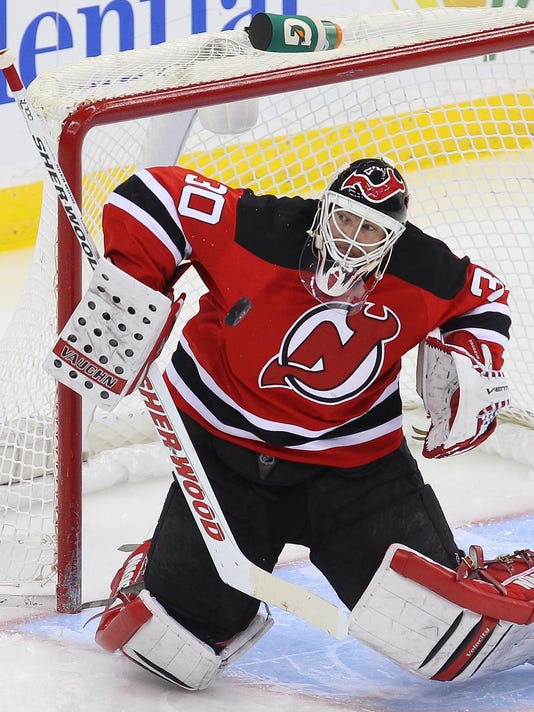 06-11-13-Brodeur. New Jersey Devils goalie Martin Brodeur is one of the  finalists for the NHL 14 cover ... 66fd75a79