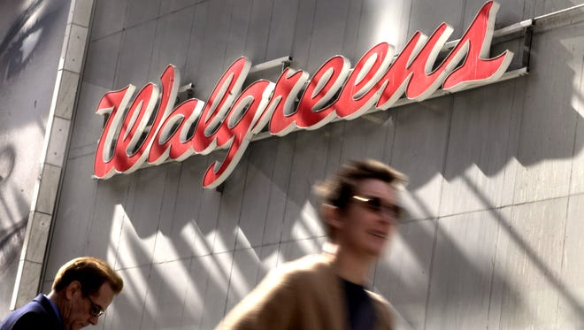 The Walgreens store in New York's Times Square.