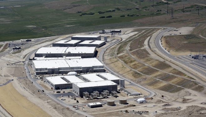 An aerial view of National Security Agency's Utah Data Center in Bluffdale, in the outskirts of Salt Lake City.