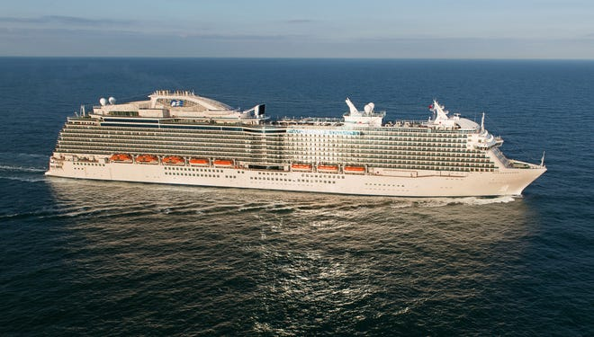Built at the Fincantieri shipyard near Trieste, Italy, the 141,000-ton Royal Princess is Princess' largest ship ever. It measures 1,083 feet long and 155 feet wide at its widest point and boasts 17 decks.