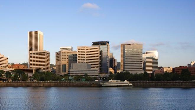 Skyline of Portland, Oregon. Oregon has one of the fastest growing economies in the U.S.