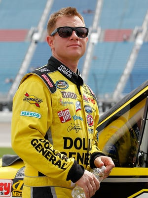 Jason Leffler, shown here on July 21, 2012, won two Nationwide races and one Truck Series race in his NASCAR career.