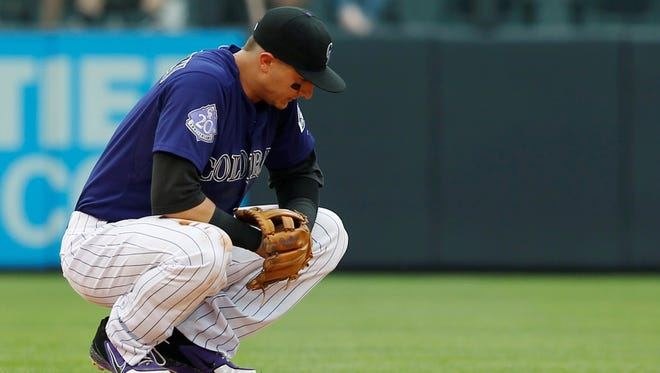 Troy Tulowitzki left Thursday's game in the eighth inning.