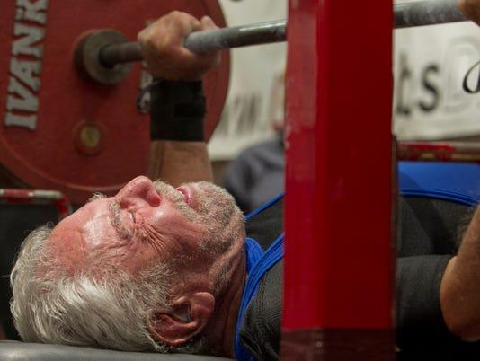 elderly weightlifter