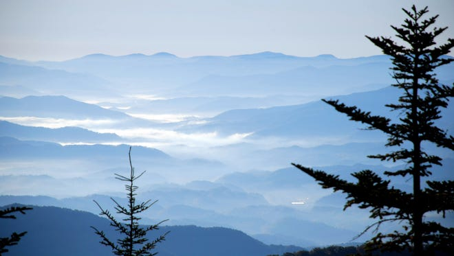The Appalachian Mountains, shown here at Great Smoky Mountains National Park, have eroded over millions of years. They once towered as high as the Himalayas.  HANDOUT.  Credit:  Great Smoky Mountains National Park   (Via MerlinFTP Drop)