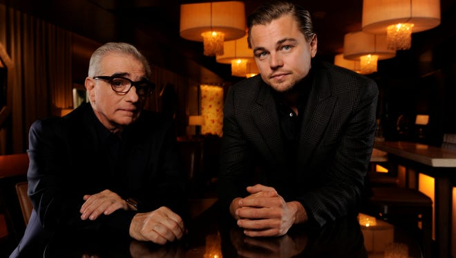 'Wolf of Wall Street' marks the fifth collaboration between director Martin Scorsese, left,  and actor Leonardo DiCaprio.