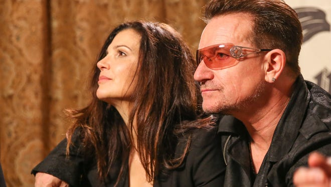 Bono, with wife Ali Hewson, has joined Tony Bennett's campaign for common-sense gun laws.