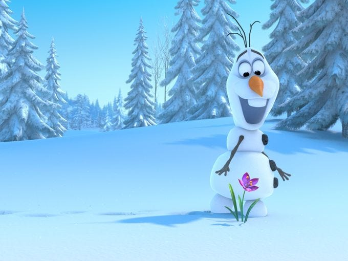 "Josh Gad voices the snowman Olaf.""Josh brings humor to every scene,"" co-director Chris Buck says of the 'Book of Mormon'<i> </i>star. ""He's hilarious."""