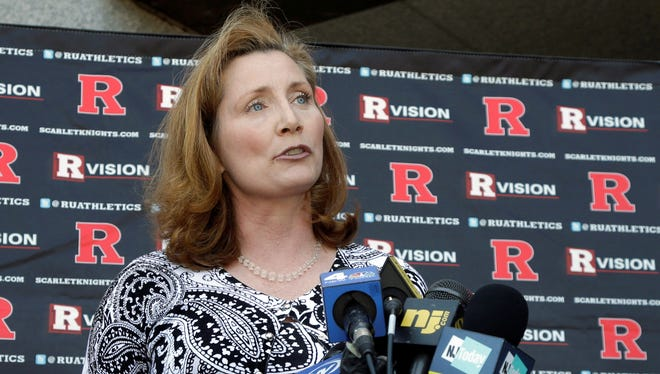 In the month since her selection as Rutgers AD, Julie Hermann has had to answer a lot of questions.