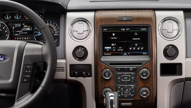The knobs found in the 2013 Ford F-150, like this one, will be part of the MyFord Touch touch screen system on other models