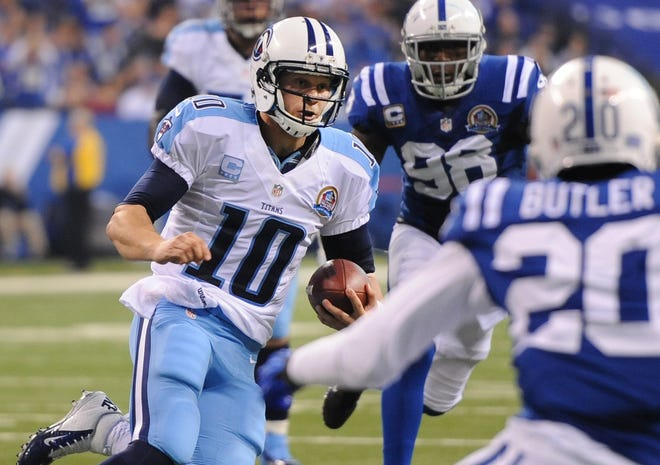 The Titans may try to take better advantage of QB Jake Locker's mobility in 2013.