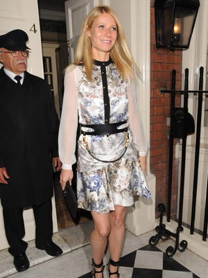Gwyneth Paltrow leaves Goop's spring party at Mark's Club Mayfair on May 21 in London.