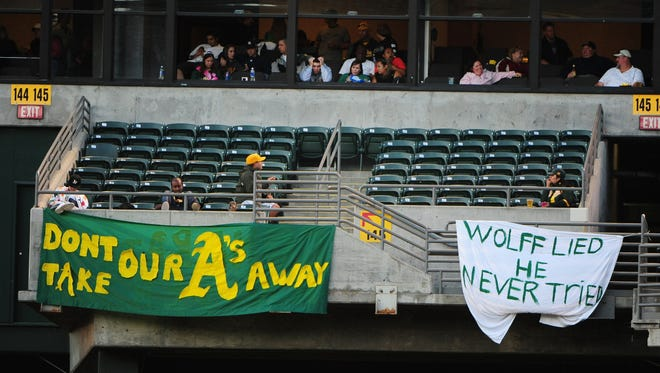 A's fans haven't been shy about letting Wolff know how they feel.