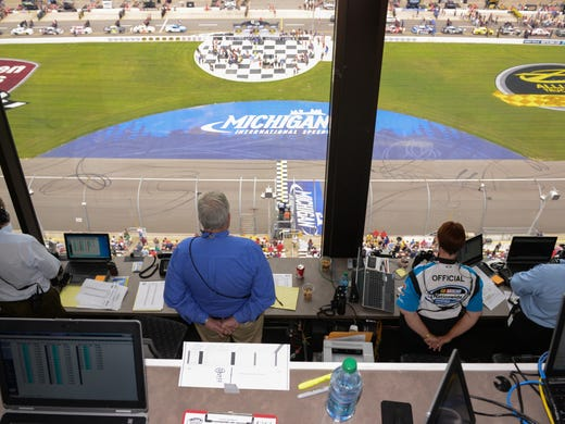Nascars Scoring Tower Offers Controlled Chaos