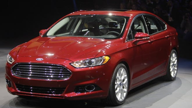 The 2013 Ford Fusion is introduced during the North American International Auto Show in Detroit last year.