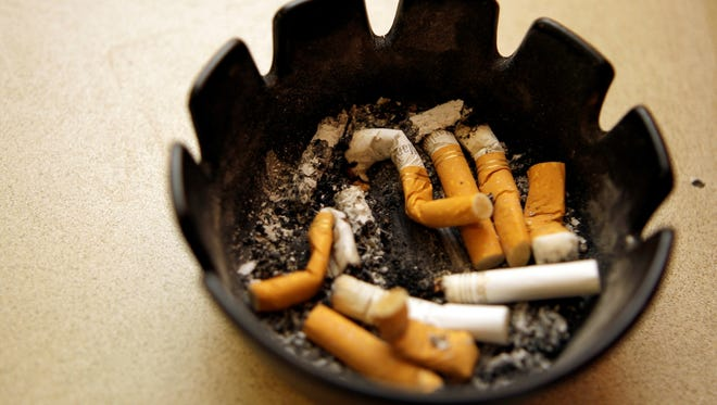 Waitresses at the River View Diner in Lemoyne, Pa., left their cigarette butts in an ashtray after smoking before the dinner rush Sept. 3, 2008.
