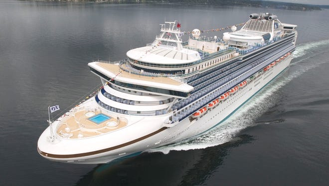 While not known for large suites, Princess Cruises offers a single Grand Suite on three vessels -- the Sapphire Princess (shown here), Diamond Princess and Caribbean Princess.