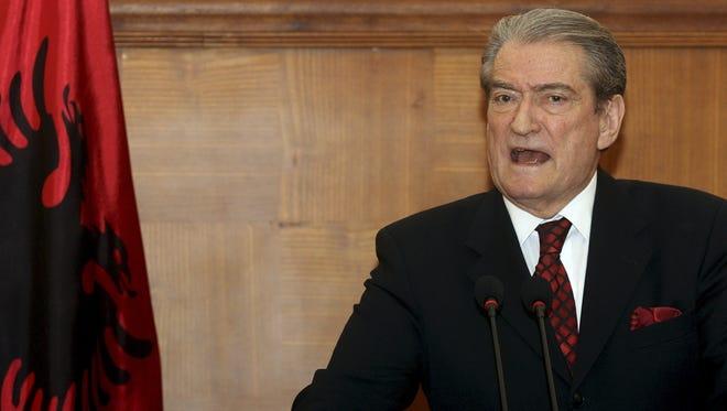 Albanian Prime Minister Sali Berisha.