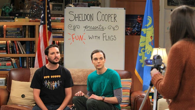 Sheldon (Jim Parsons, center) gets caught in the middle of a creative spat between Wil Wheaton and Amy (Mayim Bialik) in the second of two 'Big Bang Theory' repeats.